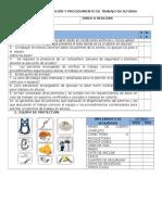 Formato Lista de Verificación y Procedimiento de Trabajo en Alturas
