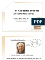 Pursuit of Academic Success