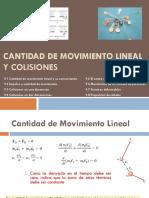 Cantidad de Movimiento Lineal y Colisiones