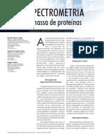 Artigo Espectrometira de Massa de Proteínas Revista Biotecnologia