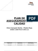 Plan de Calidad Obra Canquen Norte 2013