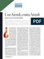 Con Arendt, Contra Arendt, SeylaBenhabib