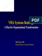 VHA Systems Redesign Chart