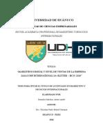 """""""MARKETING DIGITAL Y NIVEL DE VENTAS DE LA EMPRESA IASACORP INTERNATIONAL SA GLITTER – HCO/ 2016"""""""