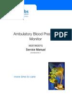 Spacelabs 90207 Ambulatory Blood Pressure Monitor - Service Manual
