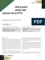 Determinación Del Cálculo de La PTU