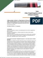 A Morosidade Judicial e a Dignidade da Pessoa Humana.pdf