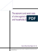 Green Book Supplementary Guidance Economic Social Costs Crime Individuals Households