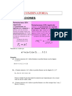 Combinatoria formulas