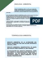 Terminologia Ambiental y Clasificacion de Los Impactos Ambientales