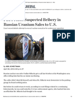 FBI Probes Suspected Bribery in Russian Uranium Sales to U.S