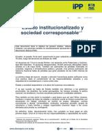 EDITORIAL | Estado institucionalizado y sociedad corresponsable | 06-may-16