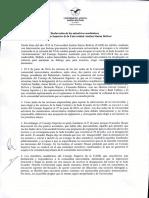 Declaracion Miembros Académicos Consejo Superior 28-06-16