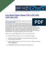 Cara Reset Counter L200