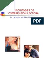 DIFICULTADES DE COMPRENSIÓN LECTORA.ppt