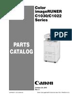 Color ImageRUNER C1030_C1022 Series Parts Catalog