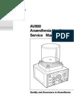 Ventilador de Anestecia AV 800 Service Manual