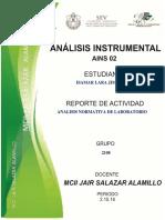 Analisis Normativa y Reglamento de Laboratorio (Quimica-motores)