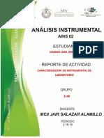 Actividad 2 Caracterización de Instrumental  de laboratorio
