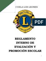 Reglamento Interno de Evaluacion Leones 2014 (2) (2)