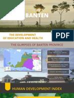 Perkembangan Pendidikan dan Kesehatan Provinsi Banten