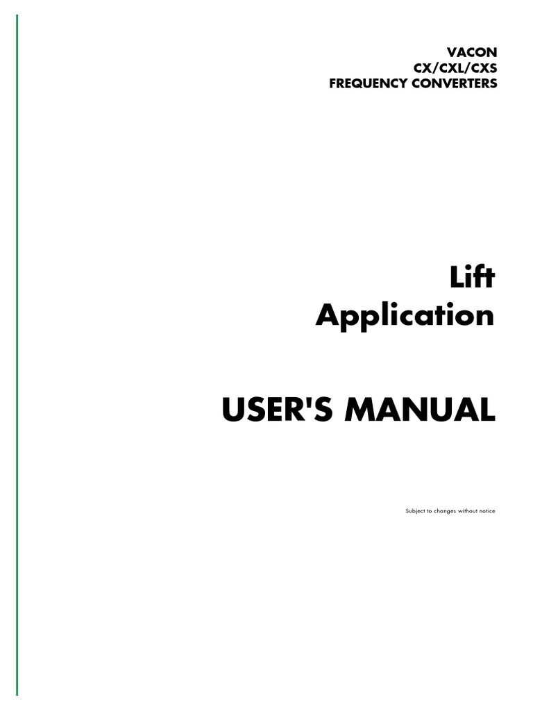 Vacon cx multi purpose ii application manual ud182d en.