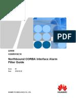 U2000 Northbound CORBA Interface Alarm Filter Guide