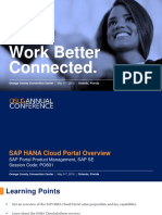 801 6. SAP HANA Cloud Portal – Overview, Innovations, Showcases, And Future Direction