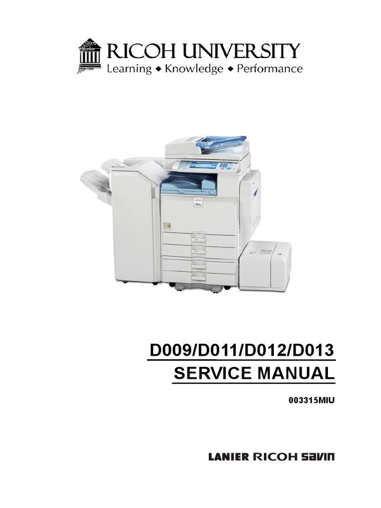 Ricoh MP 4000 SM D009_D011_D012_D013 SERVICE MANUAL .pdf | Photocopier |  Battery (Electricity)