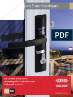 Lockwood Security Screen Door Hardware Catalogue