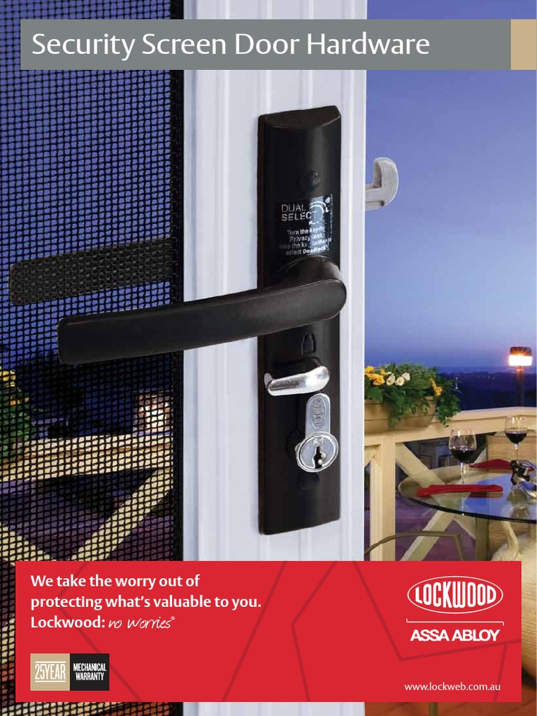Lockwood Security Screen Door Hardware Catalogue Lock Security