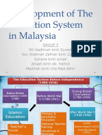 Development of the Education System in Malaysia (Post-Independence)