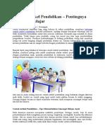 Contoh Artikel Pendidikan