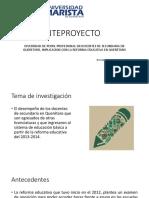 DIVERSIDAD DE PERFIL PROFESIONAL EN DOCENTES DE SECUNDARIA EN QUERETARO, IMPLICACION CON LA REFORMA EDUCATIVA EN QUERÉTARO