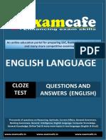 Cloze Test - Practice Set 2