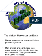 Variety Resources on Earth