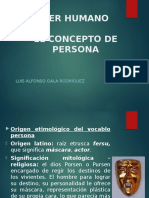 Ser Humano - Concepto Persona