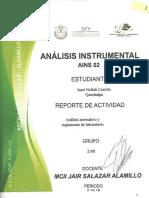 REPORTE DE ACTIVIDA N° 1