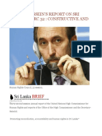 Zeid Al-hussein's Report on Sri Lanka to Hrc 32 Constructive and Positive