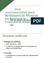 Parâmetros Neurofuncionais Para Modelagem de Memória Em Sistemas de Consciência Artificial