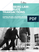 Bloomberg Law Corporate Transactions Brochure
