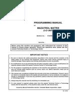Mazak Programming Manual for Mazatrol Matrix 3D