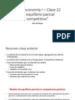 Microeconomia I -û Clase 22 Dist