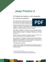 Trabajo Práctico Nº 2. El Tratado de Lisboa Un Año Después