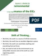 Environmental Performance of the EICs