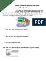 GR 1 - Worksheet - English