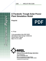 A Parabolic Trough Solar Power Plant Simulation Model