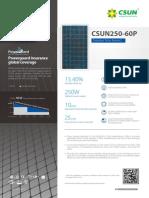 Panel Solar Fotovoltaico Csun250 60P