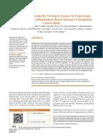 Rapid Fecal Calprotectin Testing to Assess for Endoscopic Di
