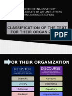 Classification of the Text for Their Organization